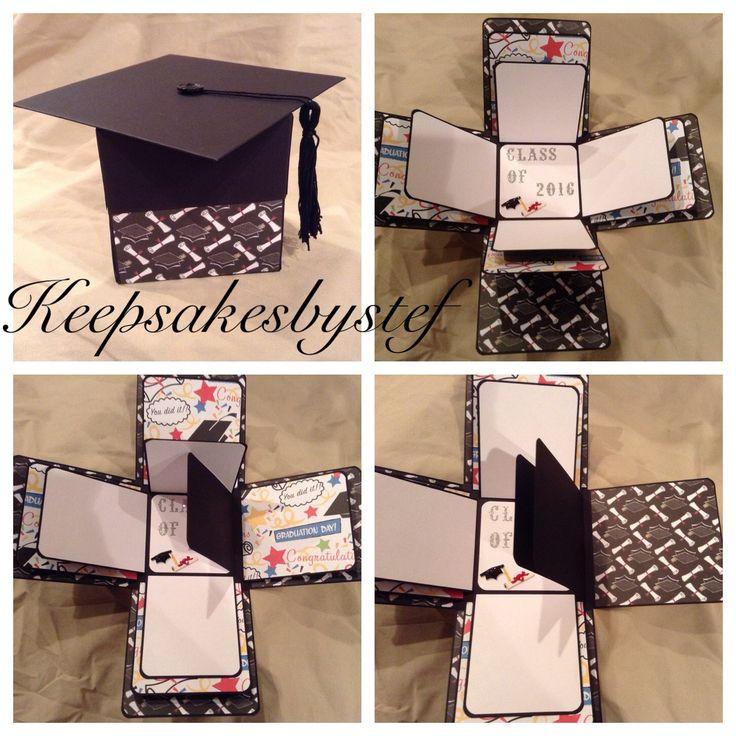 Explosion Box Photo Album  - Graduation Exploding box by Keepsakesbystef on Etsy