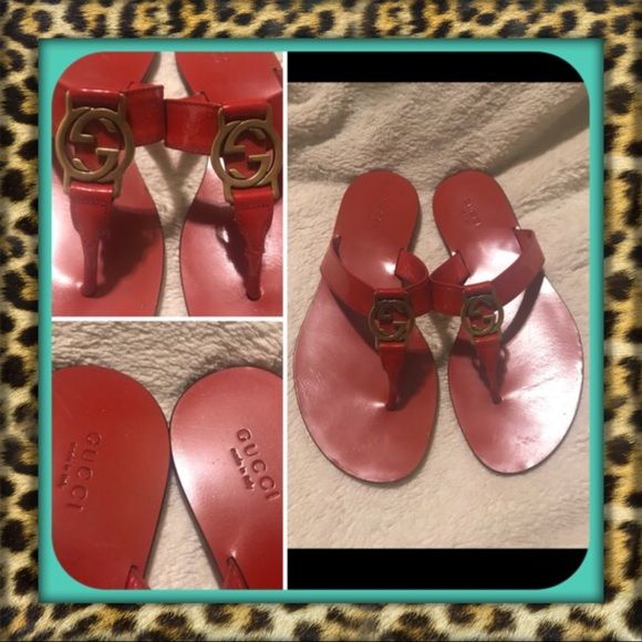 AUTHENTIC Red Gucci Sandals | Clothes
