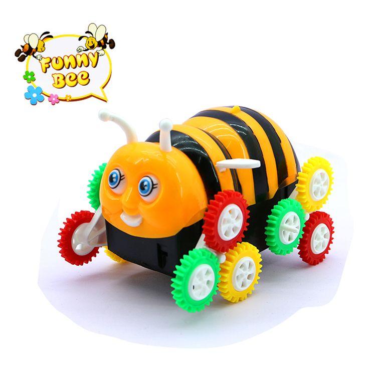 2017 roboter Hund Elektrische Cartoon Biene Eimer Stunt Auto Automatische Flip Kinder Neuheit Spielzeug Jungen Interaktive Geschenk Spielzeug Babyshining