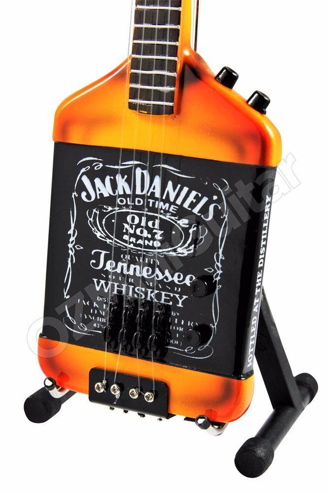Miniature Guitar Jack Daniels & Michael Anthony Bass