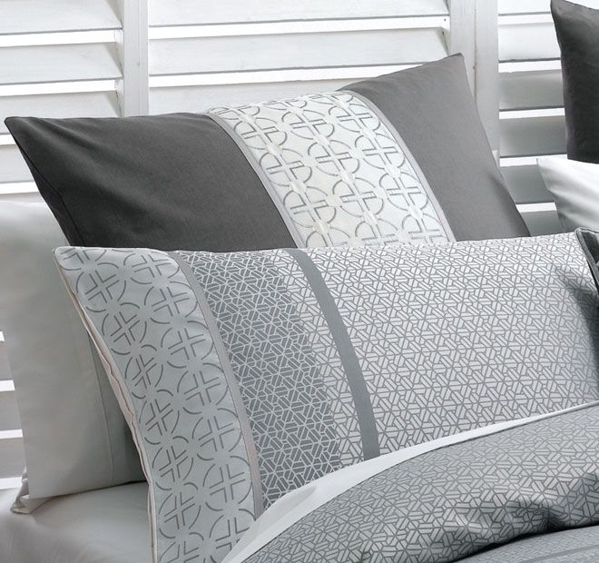 Deco Takara European Pillowcase Charcoal