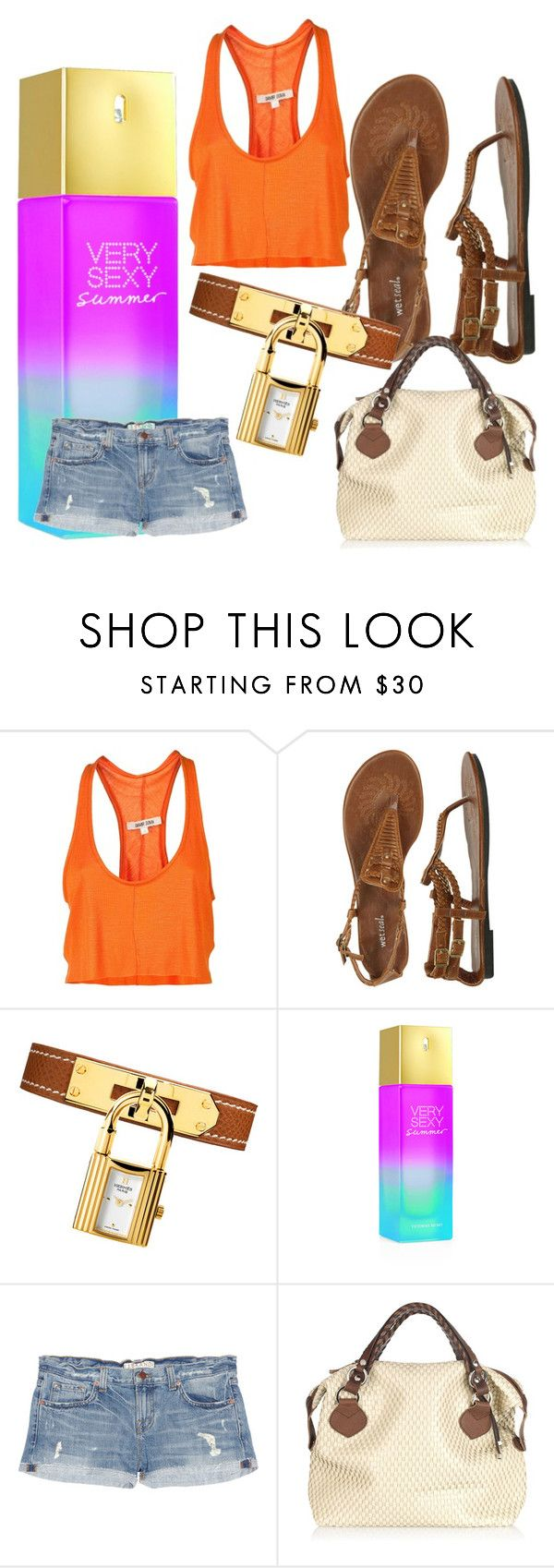 """Desert Summer"" by jsglick on Polyvore featuring DAMIR DOMA, Wet Seal, Victoria's Secret, J Brand, Pauric Sweeney, denim cutoffs and summer"