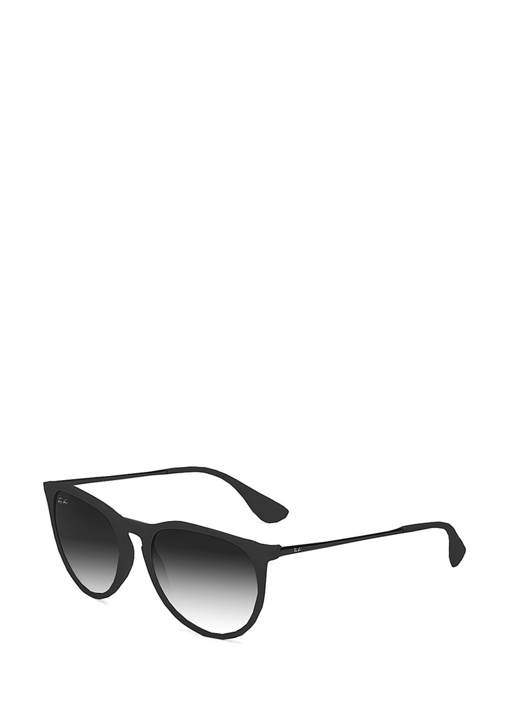 ray ban erika round rubber frame 54mm in black