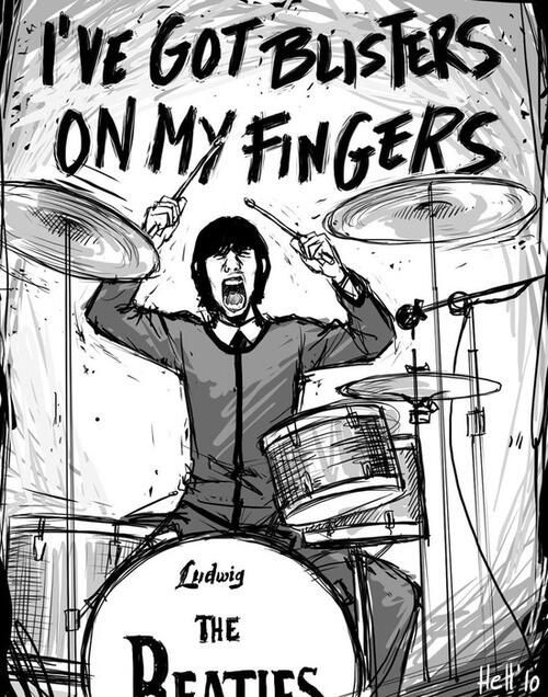 "Please Repin if you like when Ringo Starr screams, ""I got blisters on my fingers!"" in the song Helter Skelter ✌"