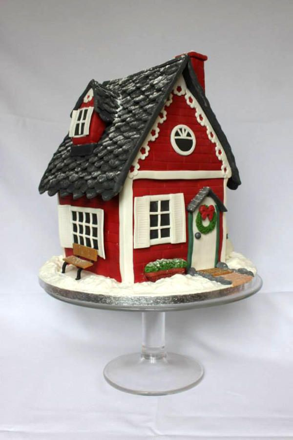 Christmas Cake - Welcome to your house! - Cake by Delicut Cakes