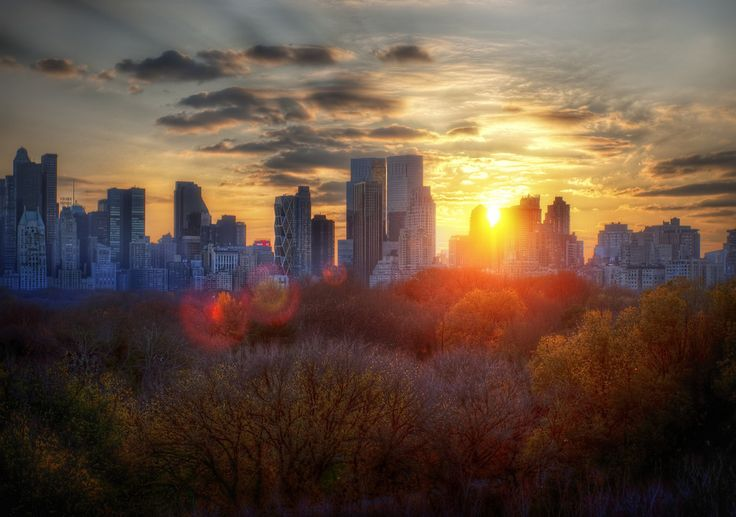 Autumn in New York at Sunset