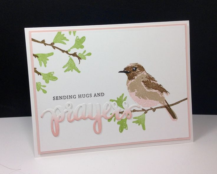 Prayers: Hero arts/Simon Says Stamp, Color Layering bird: HA, ombre sponging on a die cut, by beesmom at splitcoast, #SSSFAVE