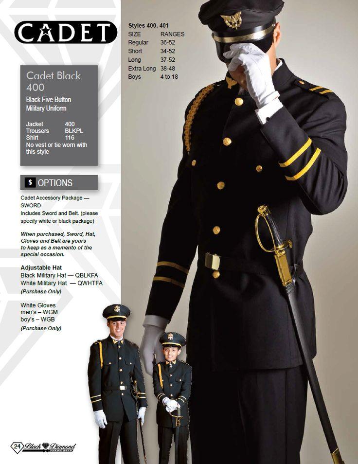 Cadet Black Five Button Military Uniform