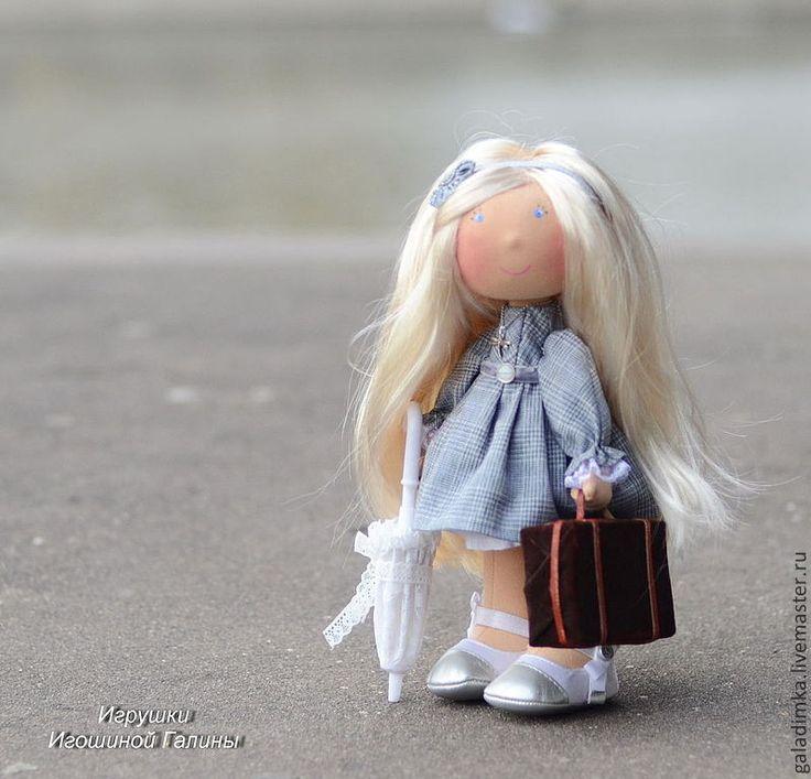 Купить Natali... - серый, текстильная кукла, интерьерная кукла, подарок, трикотаж, костюмная ткань