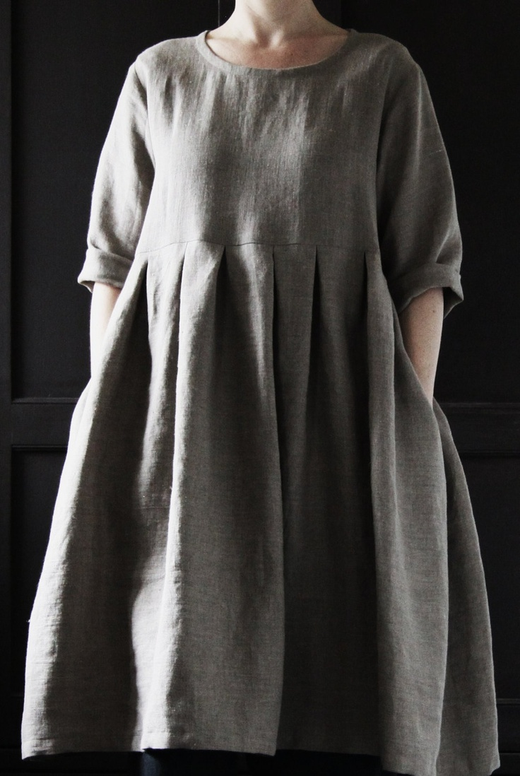 Edith and Bertha etsy shop  Natural Linen Dress. £120.00, via Etsy.