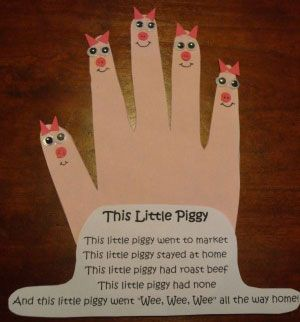 nursery rhyme crafts | How to make your This Little Piggy Nursery Rhyme Craft