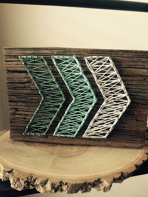 Ombre Arrow String Art Made to Order van OwenberryCrafts op Etsy