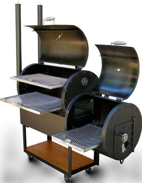 Offset BBQ Smoker Texas BBQ Pit Grill wood/charcoal fire steel