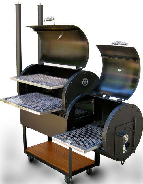 Offset BBQ Smoker Texas BBQ Pit Grill wood/charcoal fire steel