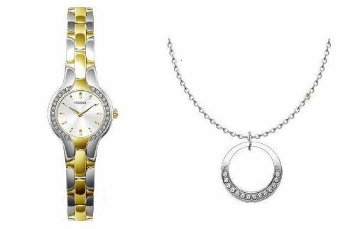 Pulsar Women's Dress Watch (Swarovski Crystal), and Matching Necklace, Box Set, PTA354X8 Pulsar. Save 69 Off!. $49.95. Womens Box Set with Matching Watch and Necklace. Made with Swarovski Crystal. Comes in Cherry Stained Wooden Jewelry Gift Box