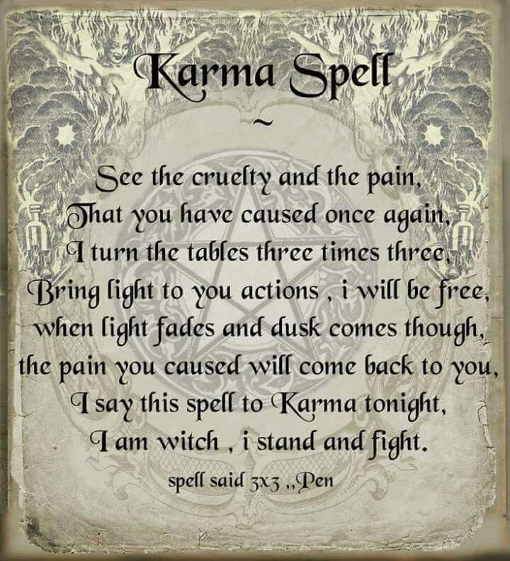 Karma Spell -revenge? correct the spelling Use with care