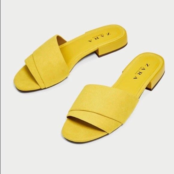 yellow open toe sandals