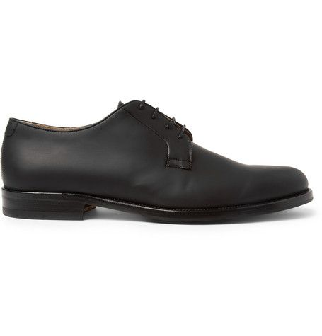 Mr. Hare Bernard Rubberised-Leather Derby Shoes | MR PORTER