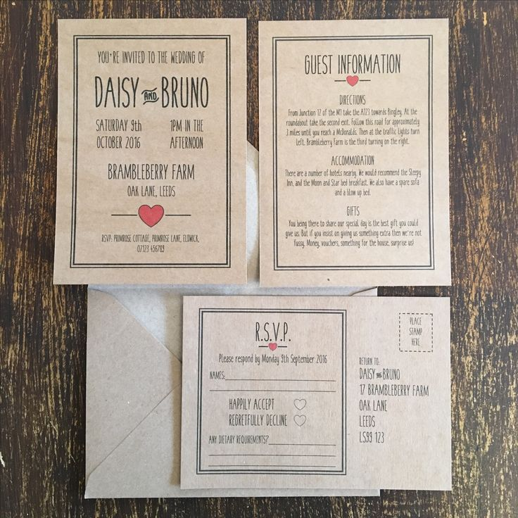 how to make film canister wedding invitations%0A Red Kraft Wedding Invitations  Rustic Country Chic Style