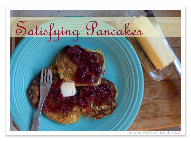 """Gwen's s pancakes - can also bake @350* for 10 minutes in greased muffin tins to make pancake """"biscuits."""" Serve two with a sausage patty in the middle. Yum!"""