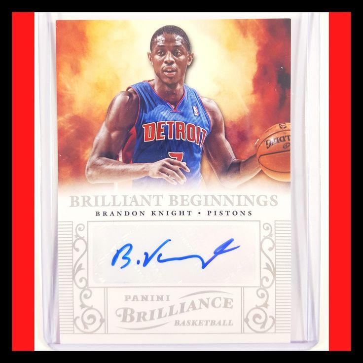 Brandon Knight Autograph Basketball Card (2012-13 Panini Brilliance)