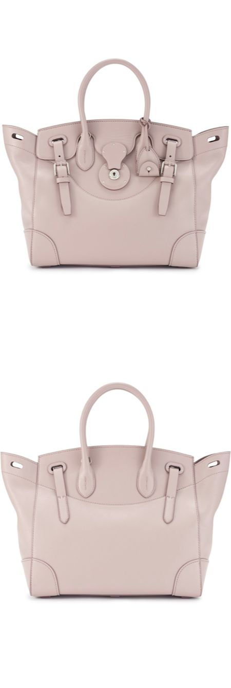 Ralph Lauren Soft Ricky Bag in Mauve (ultra soft napa leather, top handle, logo-embossed leather-covered signature lock) LOOKandLOVEwithLOLO: Ralph Lauren Fall 2014 Accessories