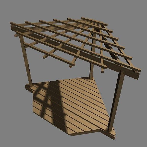 Dxf Corner Pergola Pergola Corner Freestanding By Visualmotion