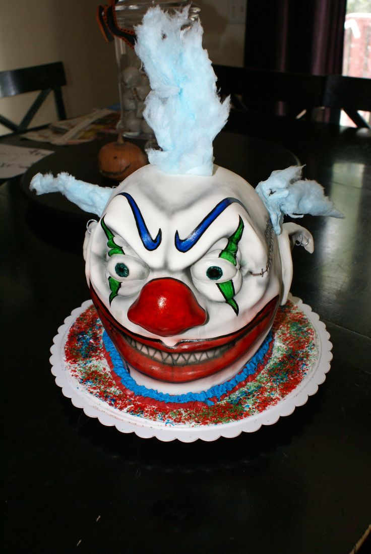 Scary Clown Cake Cakes By M E Halloween Cakes Scary