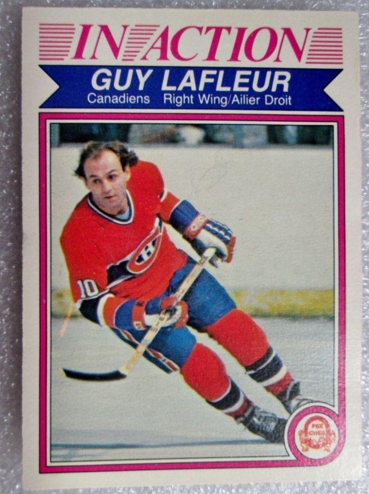 1982-83 OPC GUY LAFLEUR IN ACTION CARD! HOF - NM. #MontrealCanadiens