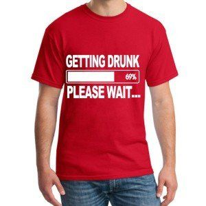 Getting Drunk Beer Mens T-Shirt