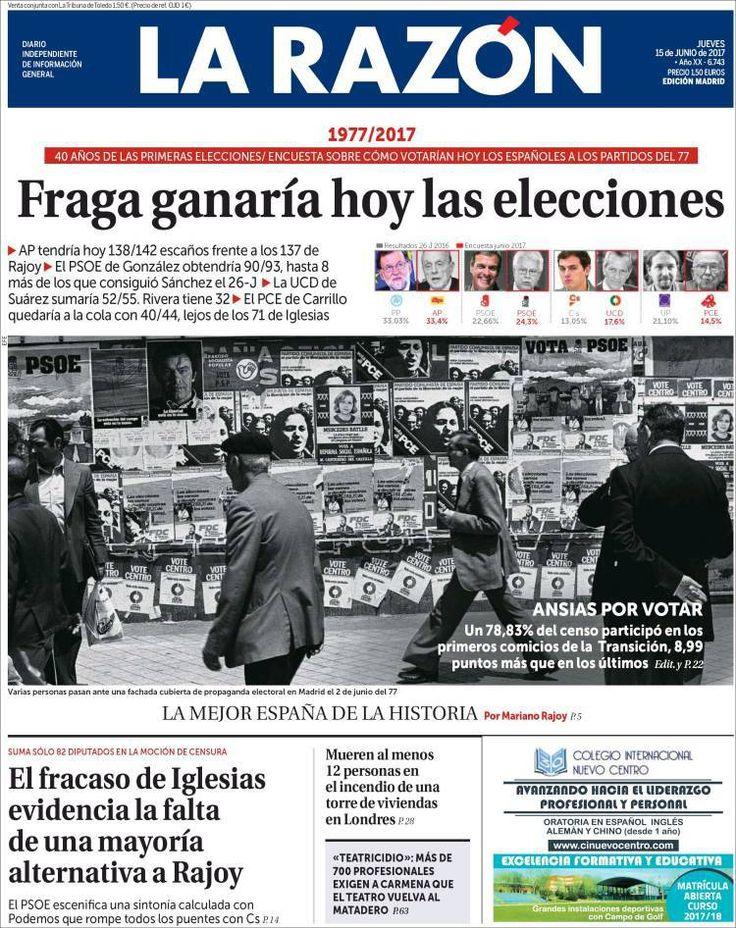 Video Portadas de los periódicos: Según La Razón Fraga Ganaría hoy las elecciones