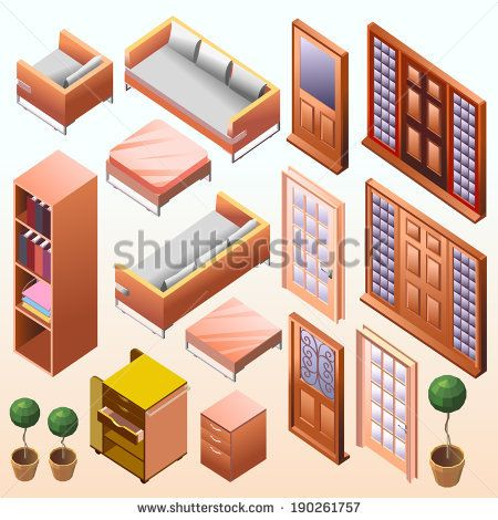 awesome vector. my popular vector on shutterstock. get it now ! here #vector #digital art #illustration #interior # isometric #cool #popular #architec #detail #work