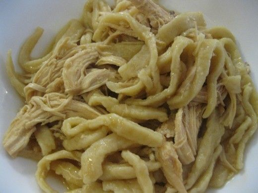 Homemade noodles for chicken and noodles.