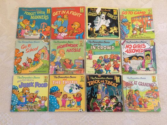 Set Of 12 Vintage Berenstain Bear Paperback Books By SilverSmiths