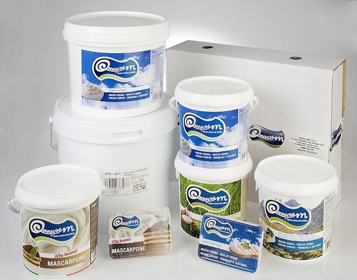 Lote de productos Quescrem para profesionales de la hostelería y la industria alimentaria para el consumidor doméstico