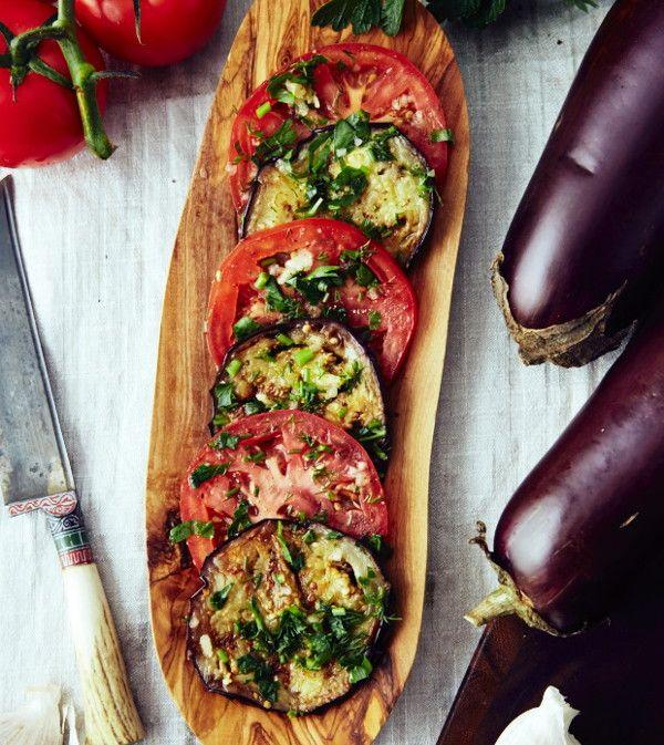 Маринованные помидоры с баклажанами