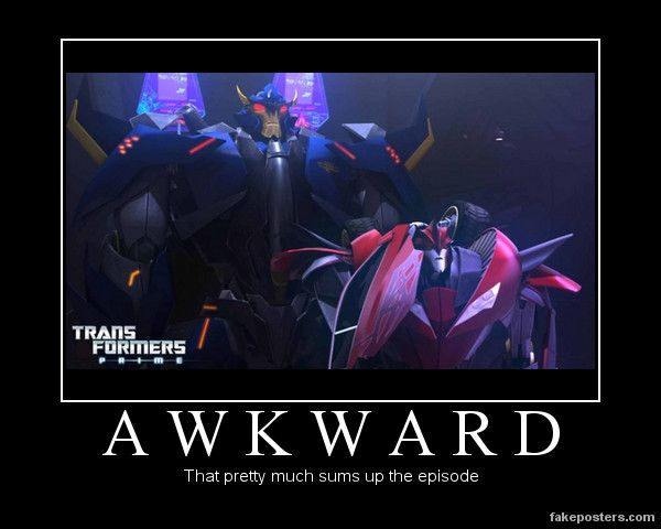 Transformers: Prime Patch Awkward by Onikage108.deviantart.com on @deviantART. No kidding lol!