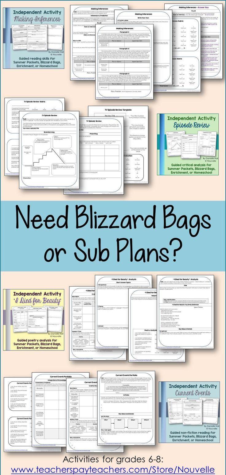 Best 8 blizzard bags images on Pinterest | Teacher stuff, Reading ...