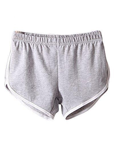 Minetom Femme Short de Sport Casual Yoga Mode Plage avec Bords Colorés Haute Taille Élastique Shorts Plage Volleyball Pour Fille:…
