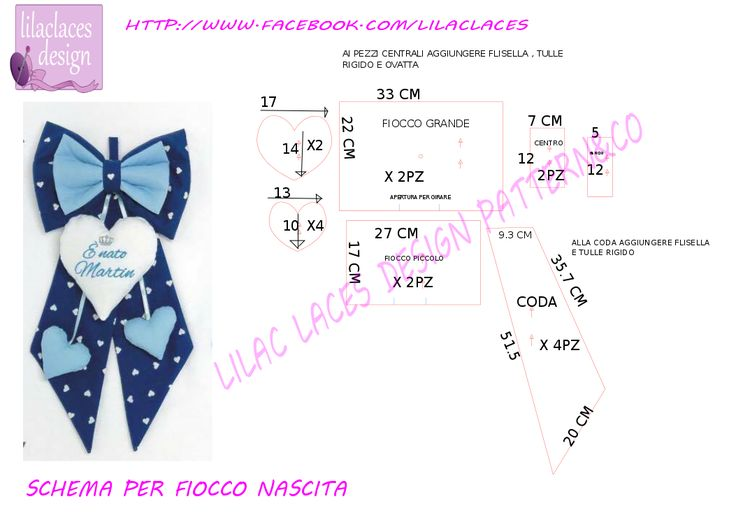 birth ribbon pattern , no problem! cartamodello fiocco nascita , no problem! ~ lilac laces design patterns.co