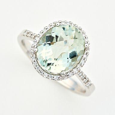 Green Amethyst & Diamonds