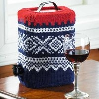 Marius trekk til vinkartong - knitted bag in box,