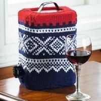 Marius trekk til vinkartong - knitted bag in box,