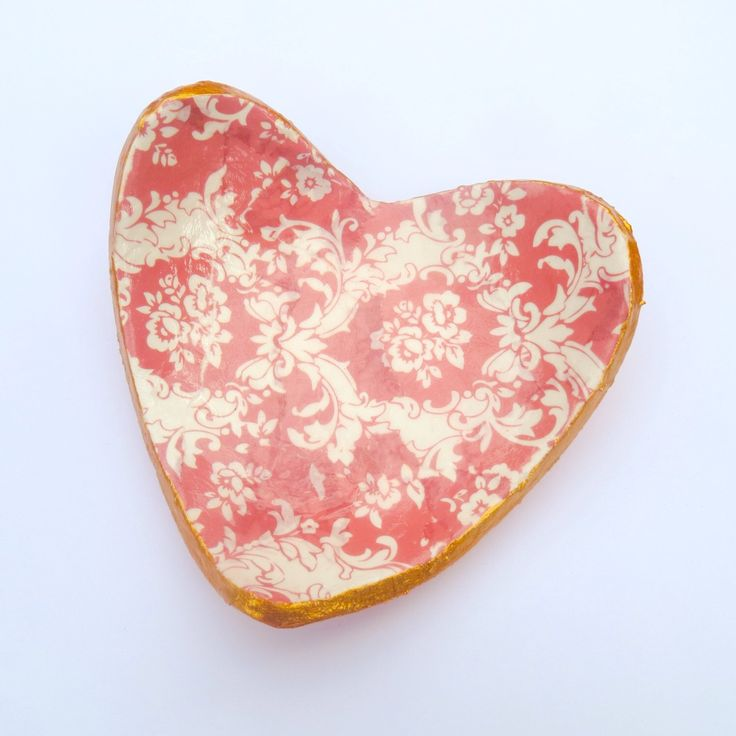 A personal favorite from my Etsy shop https://www.etsy.com/listing/234437056/floral-damask-heart-shaped-clay
