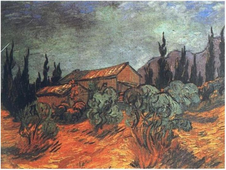 Vincent van Gogh Painting, Oil on Canvas Saint-Rémy: December, 1889 Private collection Brussels, Belgium, Europe F: 623, JH: 1873  Van Gogh: Wooden Sheds