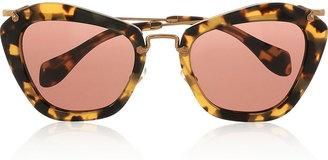 Miu Miu Cat eye tortoiseshell acetate sunglasses