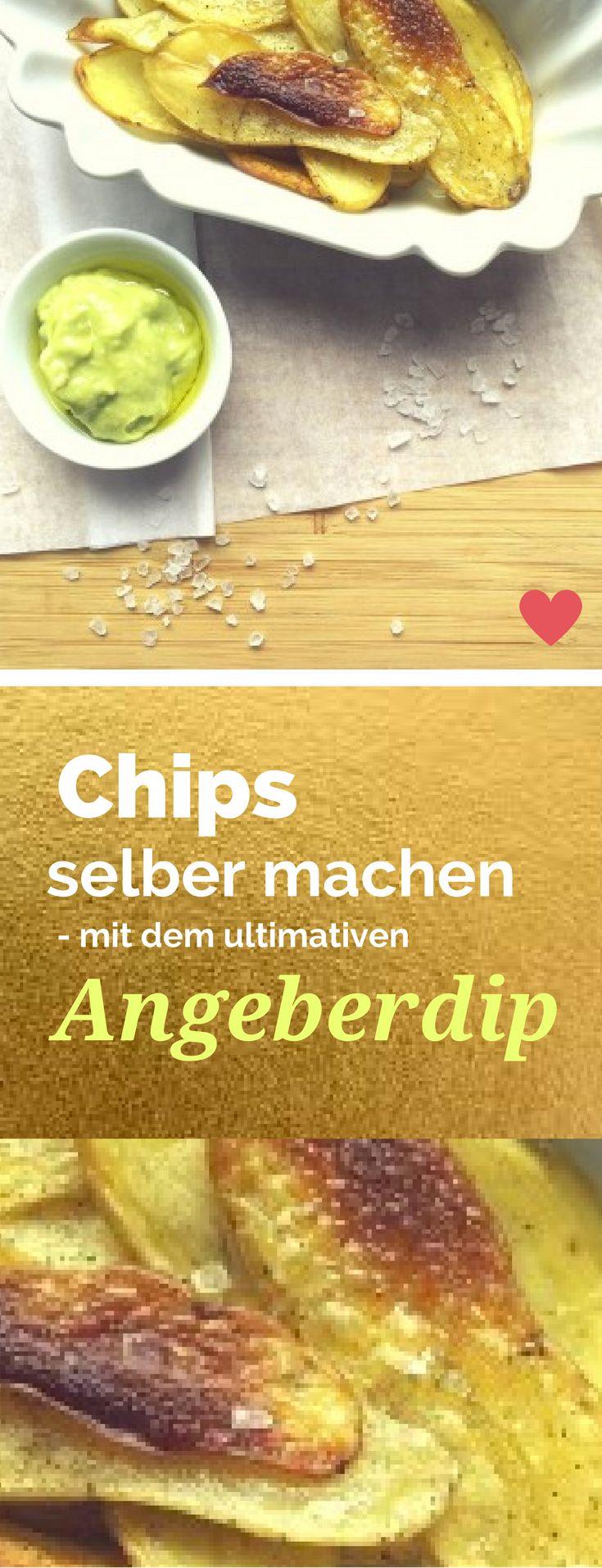 """Chips selber machen geht ganz leicht. Einfach die dünnen Kartoffelscheiben im Ofen kross backen - ich habe es für euch ausprobiert und euch genau aufgeschrieben, wie es geht. Dazu gibt es bei mir einen """"Angeberdip"""" mit cremig gerührter Avocado und einem Hauch Trüffelöl. Wirkt wie eine aufwändige Vorspeise, ist aber easypeasy nachzumachen.  Rezept auf http://www.meinesvenja.de/2015/10/12/chips-selber-machen/"""