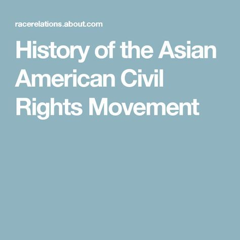 an analysis of the asian american movement The asian american movement (asian american history & cultu) and over one million other books are available for amazon kindle learn more.