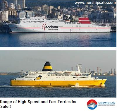Norshipsale offer high speed ferries and #fastferries for sale at good prices. Try us and experience quality shipping experience!
