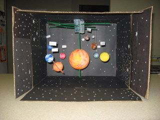 GRADING GUIDELINES: You will build a Solar System model.It should: • Include the sun,8 planets, and Earth's moon. (20 points) • Include and label two of the following objects: asteroid,...